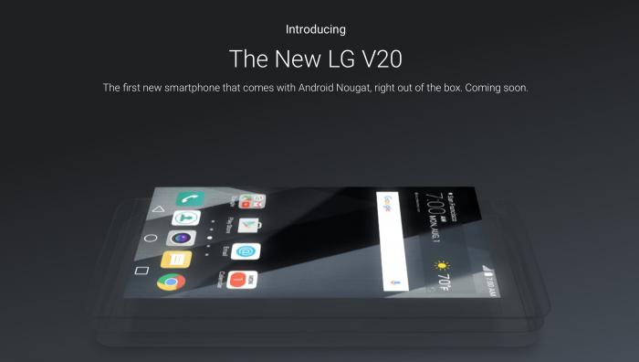 Google vahvisti jo LG V20:n tulon Android Nougatilla.