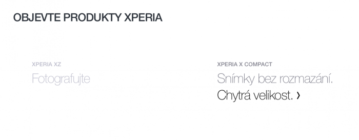 Sonyn sivuilta löytyy maininta vielä julkaisemattomasta Xperia X Compactista.