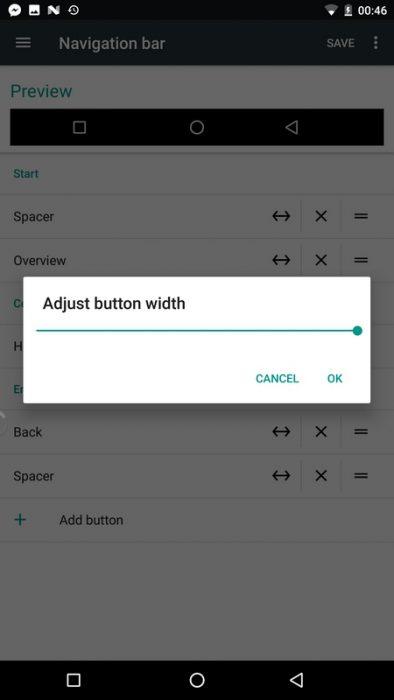 Android Nougat muokattavat navigointipainikkeet