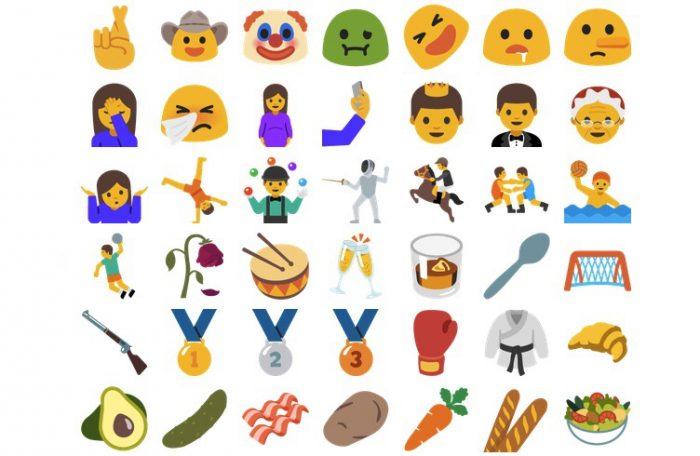 Uutta emoji-valikoimaa.