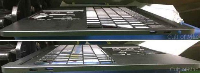 Cult of Macin aiemmin vuotama kuva. Kuvan perusteella MacBook Prohon olisi tulossa neljä USB-C-liitäntää.