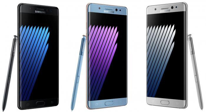 Samsung Galaxy Note7.