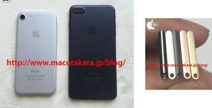 MacOtakaran aiemmassa vuotokuvassa oikealla näkyy iPhone 7:n SIM-korttiteline viidessä eri värissä.