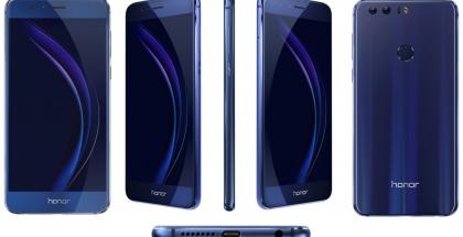 Honor 8 sinisenä värivaihtoehtona.