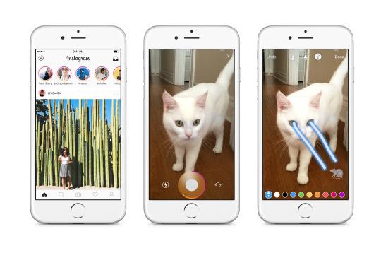 Instagram-tarinoihin pääsee käsiksi jatkossa Instagramin kotinäkymän yläreunan kuvakkeista.