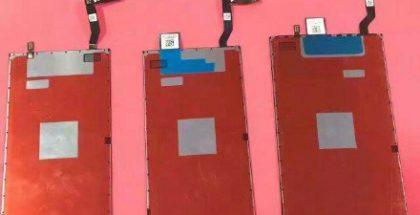 Väitetyssä kuvassa seuraavien iPhone-mallien näyttöpaneelit.