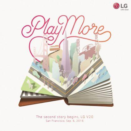 LG V20 -tilaisuuden kutsu.