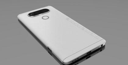 LG V20 OnLeaksin ja Android Authorityn aiemmin julkaisemassa kuvassa takaa.