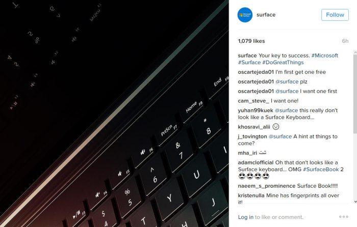 Microsoft julkaisi kuvan, jossa on todennälöisesti jo Surface Book 2.