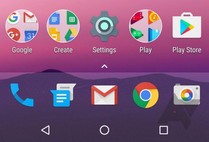 Google Android Nexus launcher