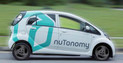 nuTonomy käyttää autoinaan muun muassa sähköisiä Mitsubisheja.
