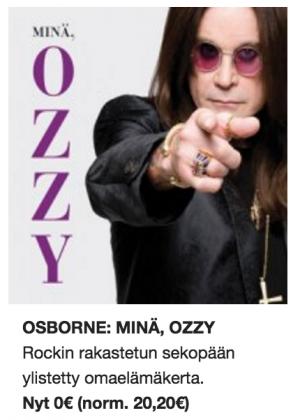 Minä, Ozzy. Äänikirjana maksutta.