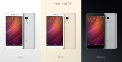 Redmi Note 4:n eri värit.