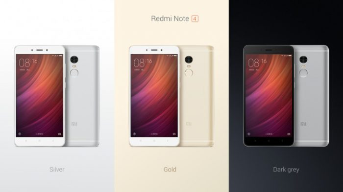 Redmi Note 4:n eri värit.