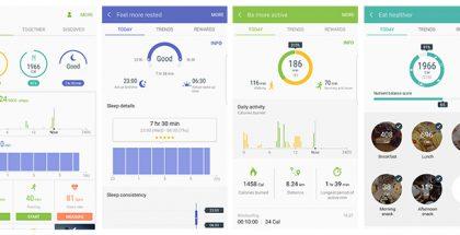 S Healthin uudistunut käyttöliittymä jakaantuu kolmelle välilehdelle.