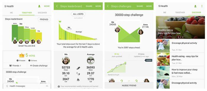 Mukaan S Healthiin on tullut sosiaalisia kavereiden kanssa kisailun mahdollistavia toimintoja.
