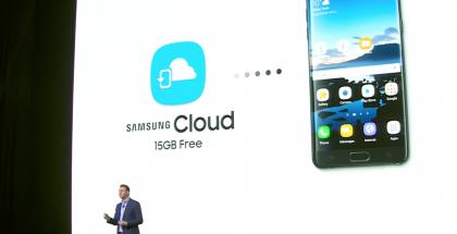 Samsung Cloud esiteltiin Galaxy Note7:n julkistustilaisuudessa.