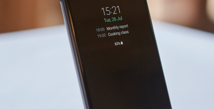 Galaxy Note7 ja aina päällä pysyvä Always On -näyttö.