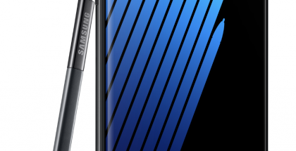 Samsung Galaxy Note7 mustana värivaihtoehtona.