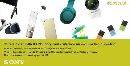 Sonyn kutsu sen IFA 2016 -tilaisuuteen.
