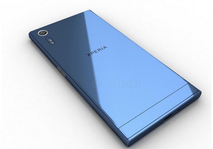 Sony Xperia XR takaa, OnLeaksin vuotamassa lehdistökuvassa.