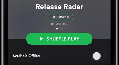 Spotify Release Radar kokoaa suosikkijulkaisut yhteen paikkaan.