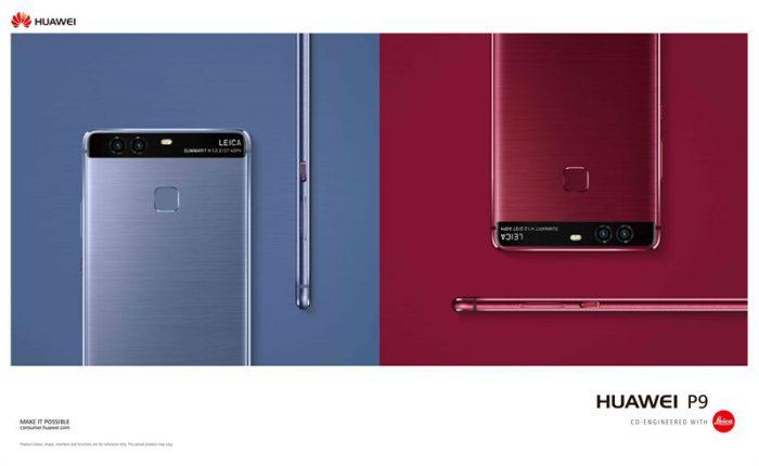 Huawei P9 uusissa värivaihtoehdoissa.