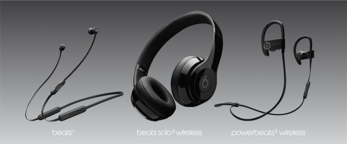 BeatsX + Beats Solo3 Wireless + Powerbeats3 Wireless.