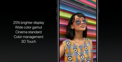 Näin Apple kertoi iPhone 7:n näytöstä julkistustilaisuudessa.