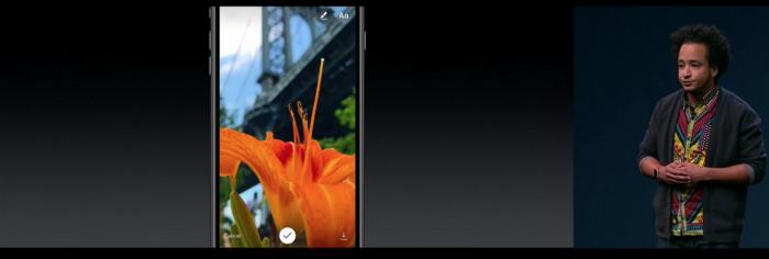 Instagramin uudistuksia esiteltiin iPhone 7 -julkistustilaisuudessa.