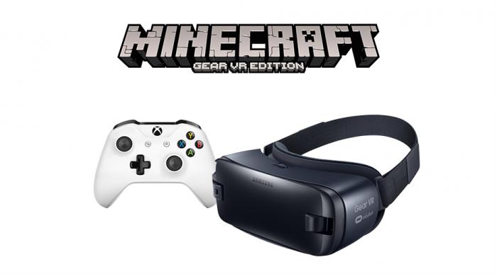 Langaton Xbox-ohjain alkaa toimia yhdessä Gear VR:n kanssa, ensimmäiseksi Minecraftin osalta.