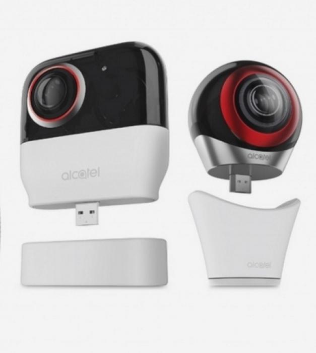 Alcatelin 360-kameran kaksi eri versiota.