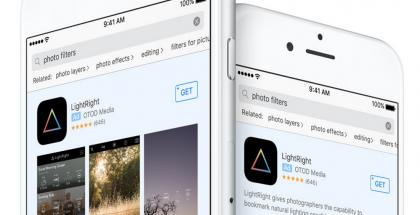 Tältä ensimmäisenä hakutuloksissa näkyvät mainokset App Storessa näyttävät.