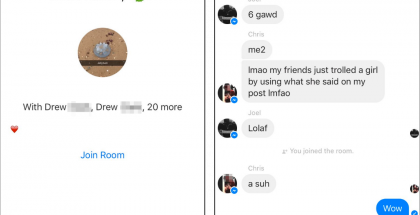 Facebook Messengerissä parhaillaan testattava piilo-ominaisuus: Rooms-ryhmäkeskustelut.