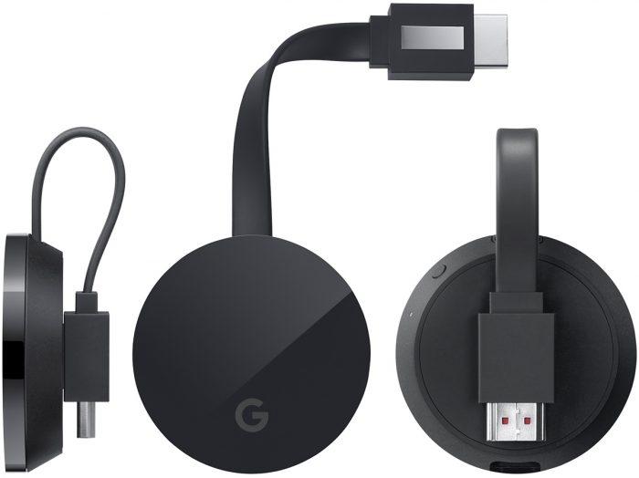 Google Chromecast Ultra.