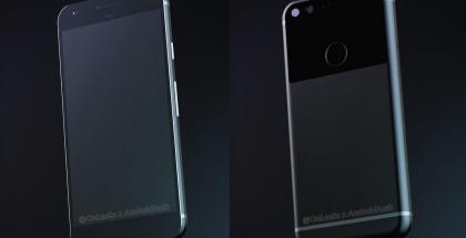 Googlen ja HTC:n tuleva Sailfish-koodinimellinen puhelin Android Authorityn ja OnLeaksin julkaisemissa kuvissa.