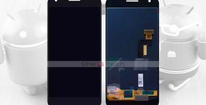 Google Pixelin etupaneeli kuvissa.