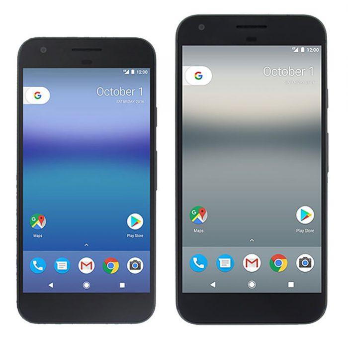 Google Pixel ja Pixel XL Evan Blassin julkaisemissa vuotokuvissa.