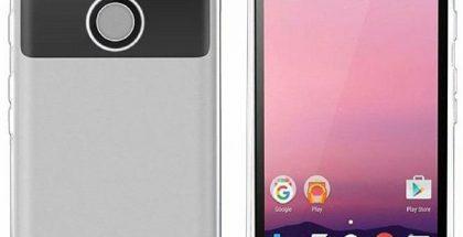 Marlin eli Google Pixel XL läpinäkyvän suojakuoren sisällä.