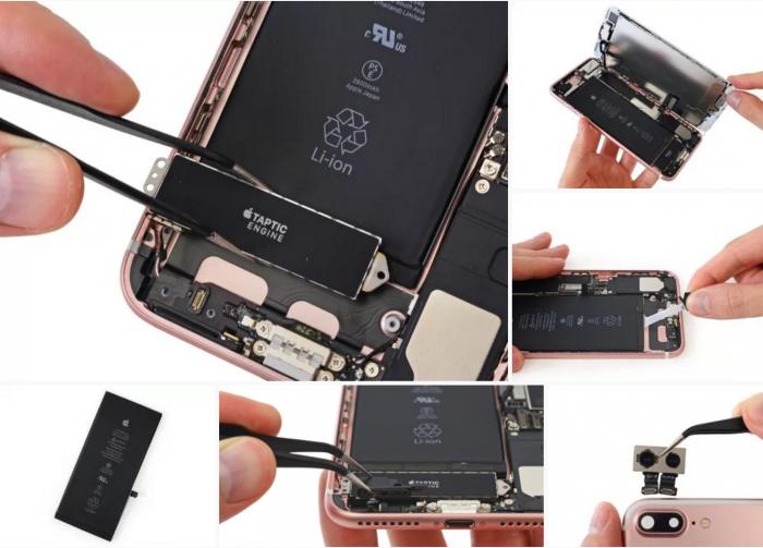iFixit purki iPhone 7 Plussan.