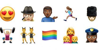 iOS 10 tuo uudistuneita ja uusia emojeja.