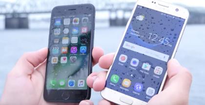 iPhone 7 ja Galaxy S7 ottivat aiemmin toisistaan mittaa jo veteen upotuksessa.