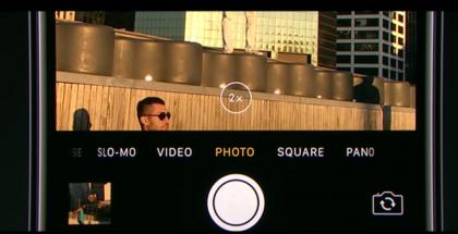 iPhone 7 Plus tarjoaa kameraa vaihtamalla 2x optisen zoomin.