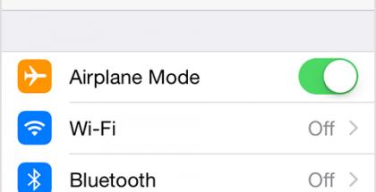 iPhone lentokonetila