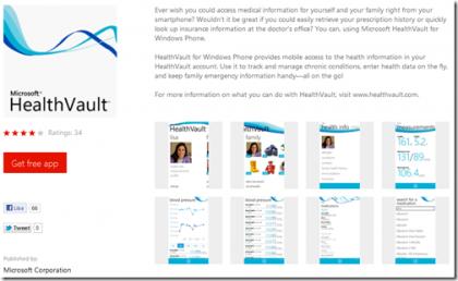Microsoft HealthVault.
