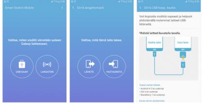 Samsung Smart Switch -sovellus auttaa puhelimen vaihdossa tietojen siirrossa.