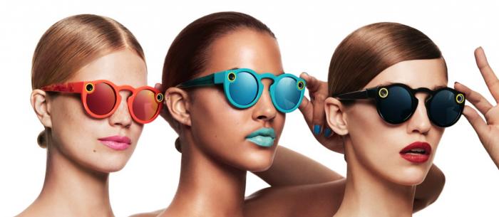 Snap Spectacles -lasit eri värivaihtoehtoinaan.