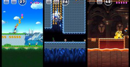 Kuvia Super Mario Run -pelistä iPhonella.