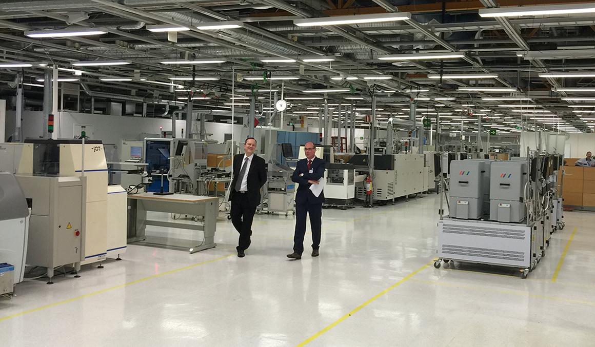 Kuva Turingin tehdastiloista Salossa.