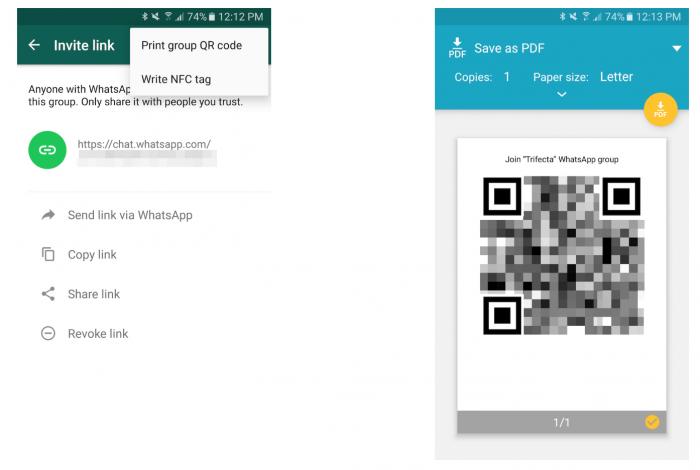 WhatsAppin uudet ryhmäkutsujen linkit.